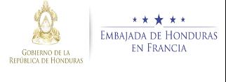 Embajada de Honduras en Francia- Ambassade du Honduras